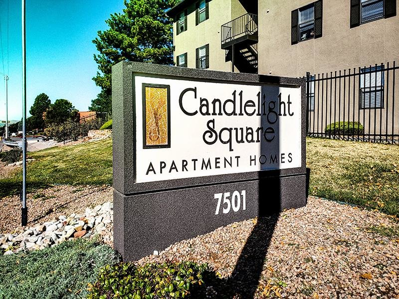 Welcome Sign | Candlelight Square Apartments