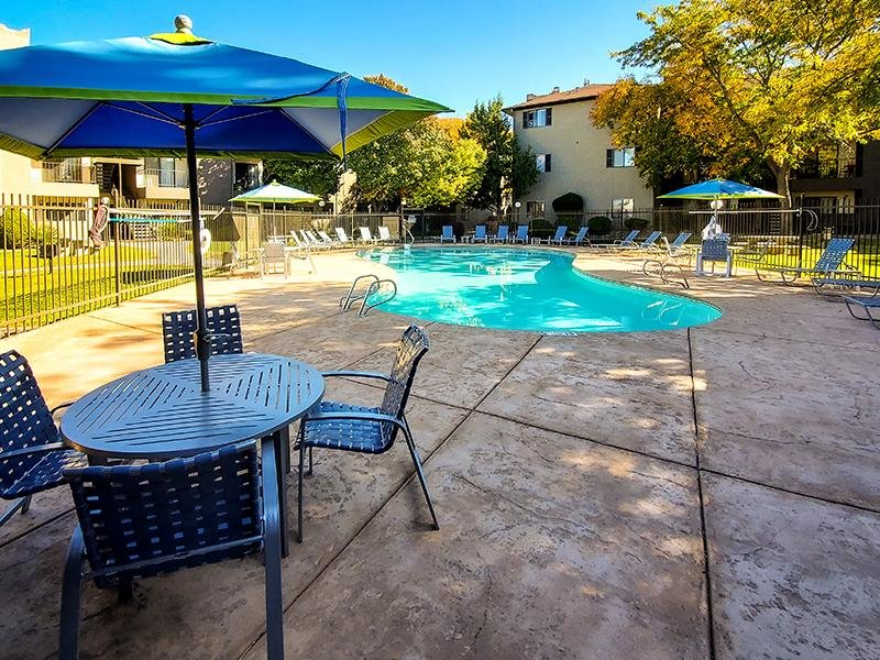 Pool Side | Candlelight Square Apartments