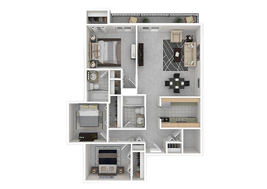 Floorplan for Indigo Park Apartments