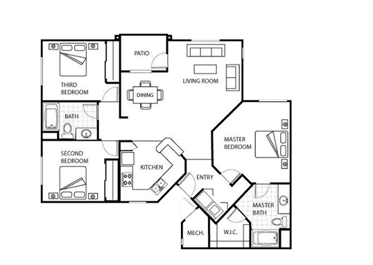 Floorplan for Broadstone Heights Apartments
