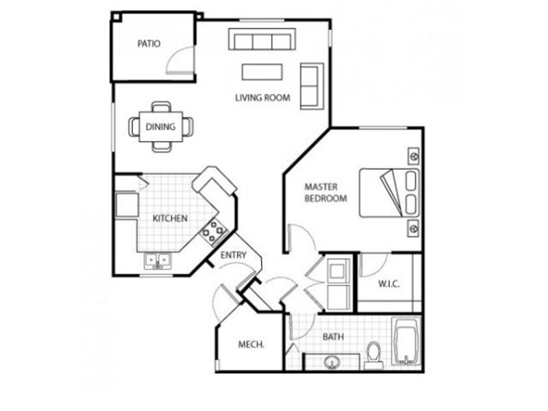 Our 1 Bedroom 1 Bathroom R is a 1 Bedroom, 1 Bathroom Apartment