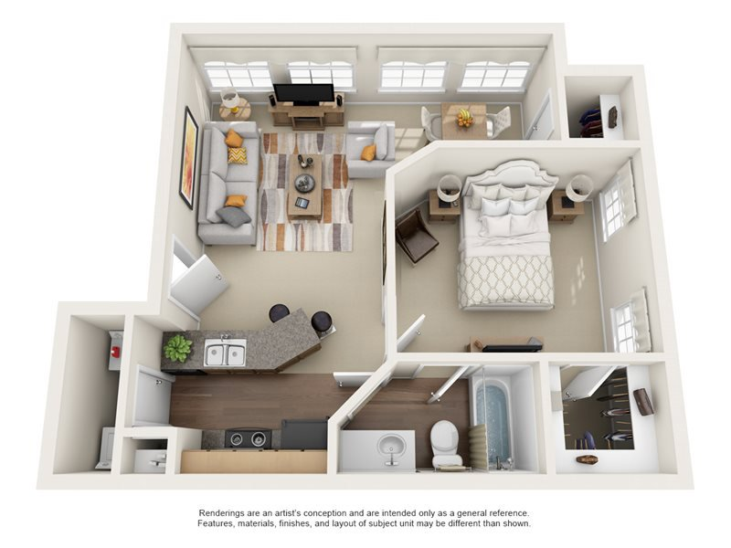 Our Ashcroft is a 1 Bedroom, 1 Bathroom Apartment