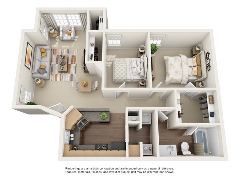 Our Elmhurst is a 2 Bedroom, 1 Bathroom Apartment