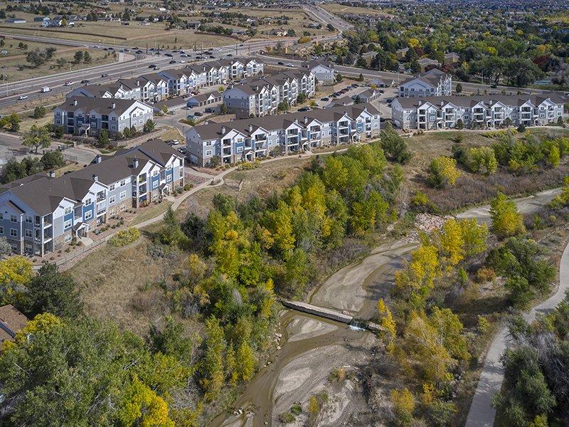 Aerial View | Peaks at Woodmen Apartments in Colorado Springs, CO