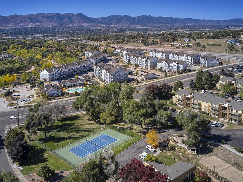 Aerial Shot | Peaks at Woodmen Apartments in Colorado Springs, CO