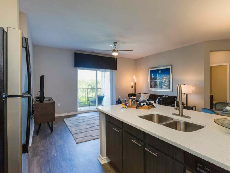 Kitchen | Peaks at Woodmen Apartments