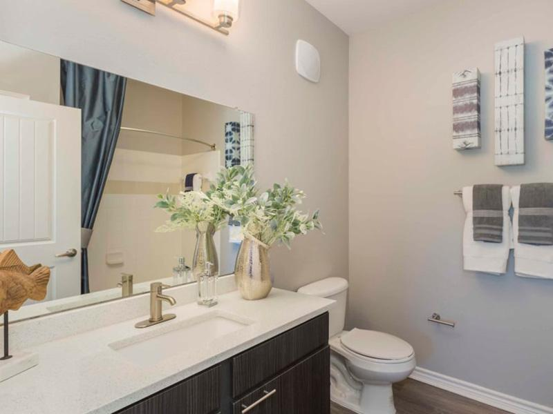 Master Bath | Peaks at Woodmen Apartments in Colorado Springs