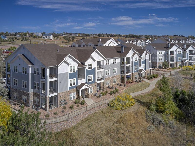 Exterior | Peaks at Woodmen Apartments in Colorado Springs, CO
