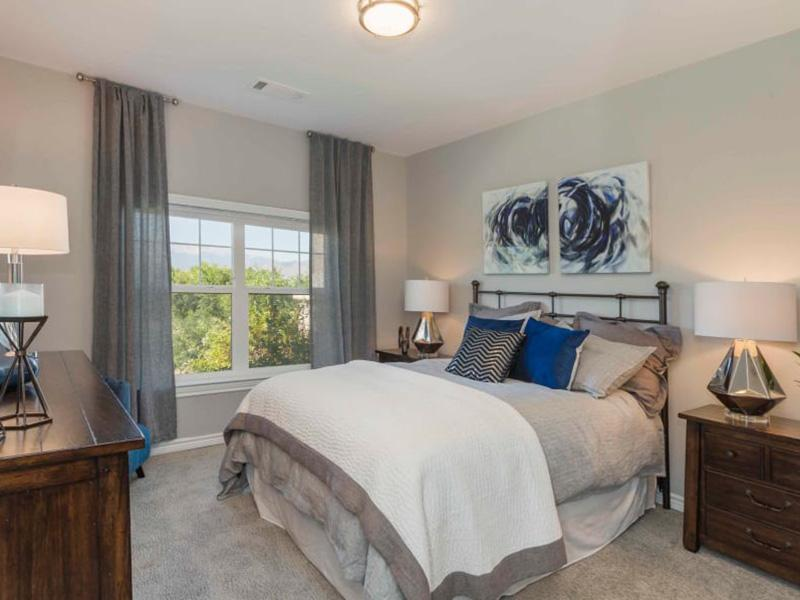 Bedroom | Peaks at Woodmen Apartments in Colorado Springs
