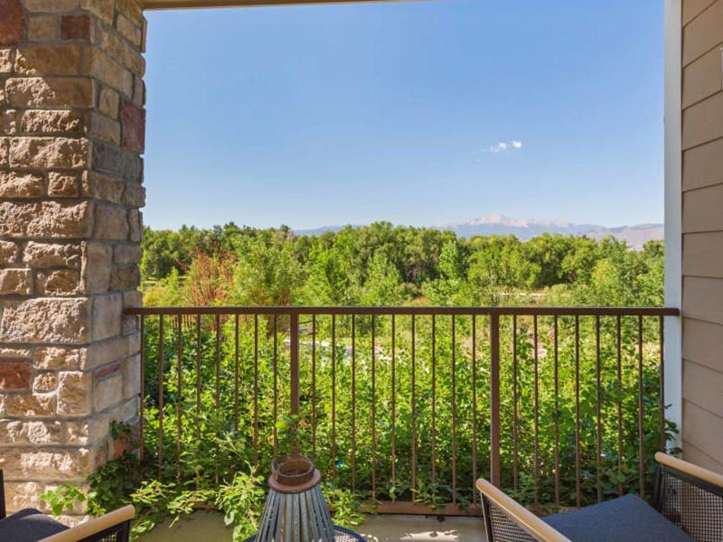 Balcony View | Peaks at Woodmen Apartments in Colorado Springs, CO