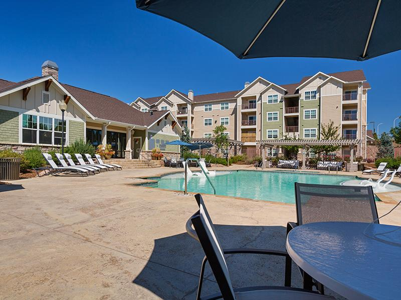 Sparkling Pool | The Peaks at Woodsmen Apartments