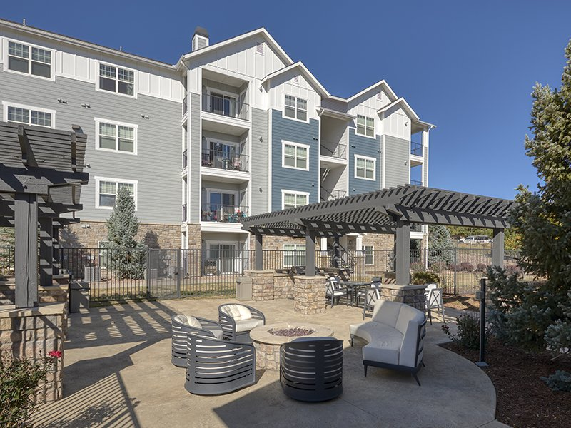 Outdoor Lounge | Peaks at Woodmen Apartments in Colorado Springs, CO