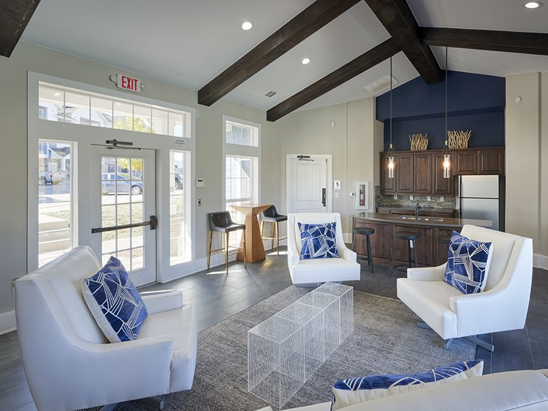 Clubhouse Seating | Peaks at Woodmen Apartments in Colorado Springs, CO
