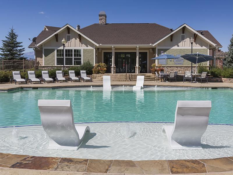 Pool | Peaks at Woodmen Apartments in Colorado