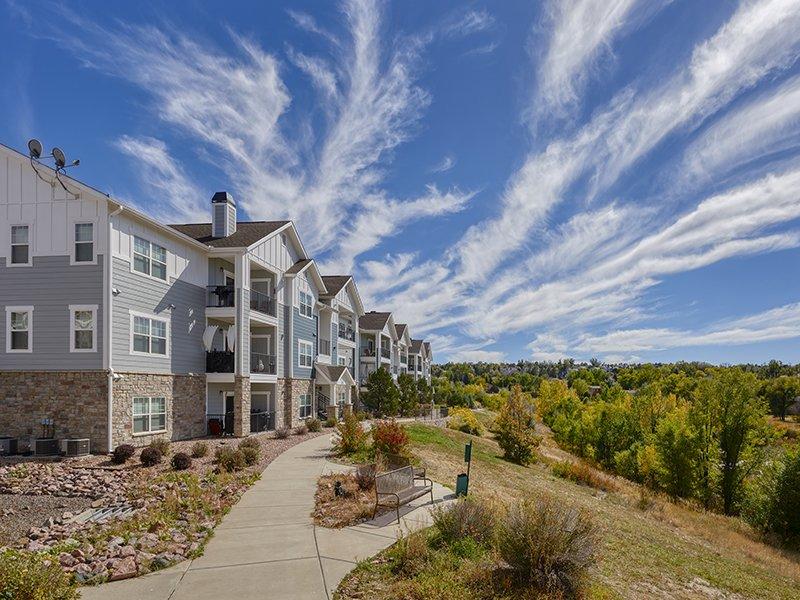 Walkways | Peaks at Woodmen Apartments in Colorado Springs, CO