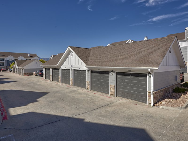 Apartment Garages | Peaks at Woodmen Apartments in Colorado Springs, CO
