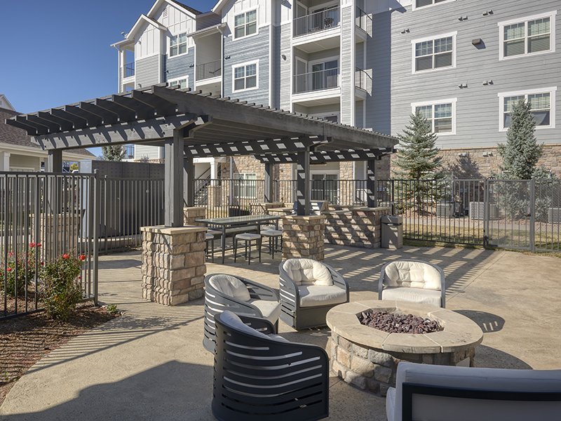Fire Pit | Peaks at Woodmen Apartments in Colorado Springs, CO