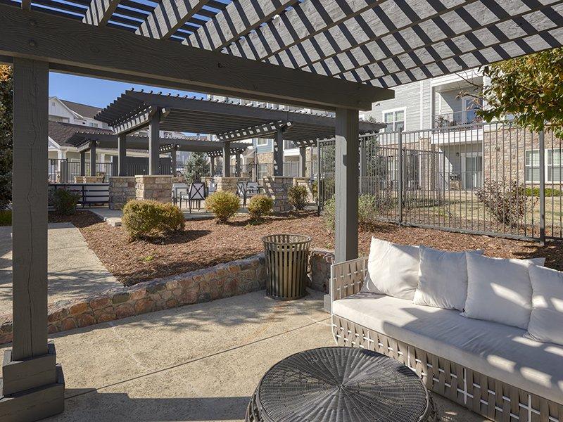 Outdoor Seating | Peaks at Woodmen Apartments in Colorado Springs, CO