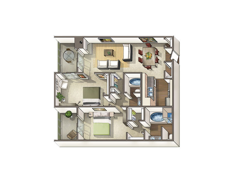 Floor Plans at Axis at Nine Mile Station Apartments