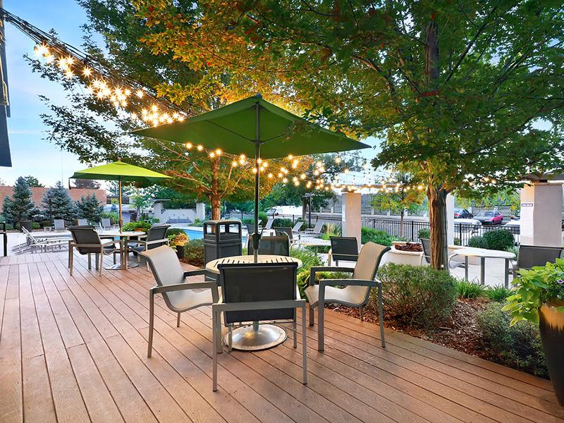 Outdoor Lounge Area- Apartments in Denver, CO