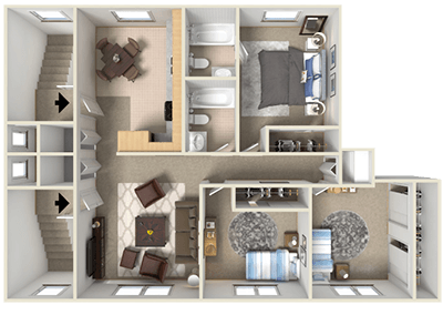Floorplan for Franklin Flats Apartments