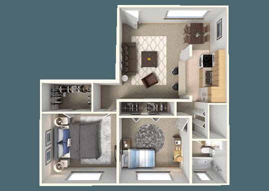 Floorplan for Bridge Square Apartments
