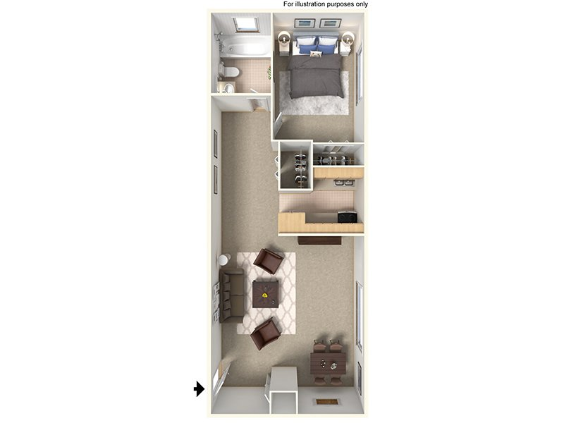 Our 11B is a 1 Bedroom, 1 Bathroom Apartment
