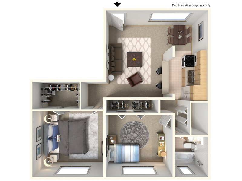 Our 21A is a 2 Bedroom, 1 Bathroom Apartment