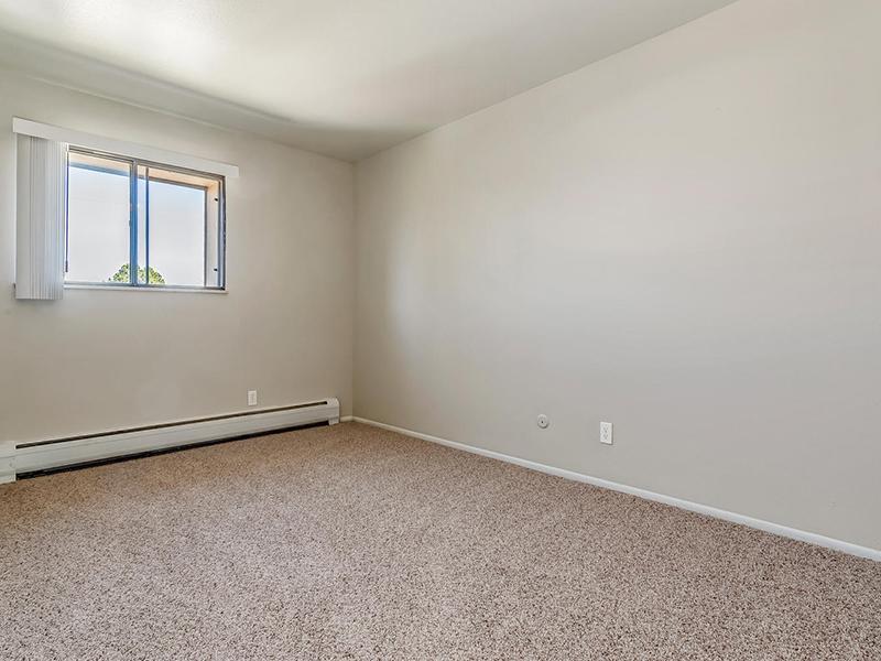Carpeted Bedroom | Bridge Square Apartments