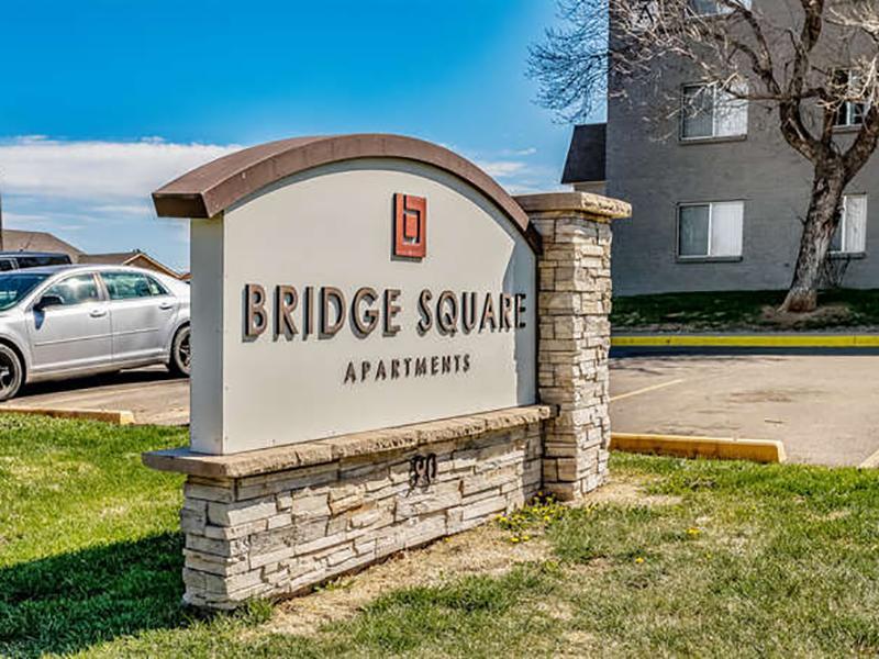Welcome Sign | Bridge Square Apartments in Brighton, CO