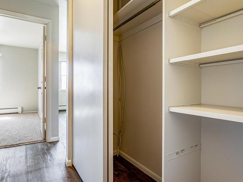 Closet Space | Bridge Square Apartments