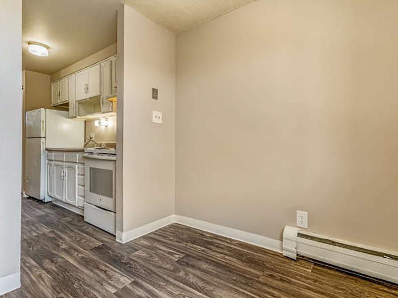 Dining Area & Kitchen | Bridge Square Apartments