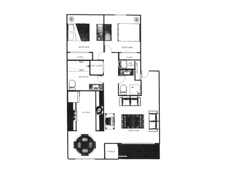 Our 2x2 market is a 2 Bedroom, 2 Bathroom Apartment