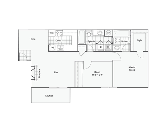Floorplan for Ascend at Red Rocks Apartments