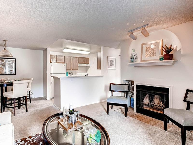 Living Room | Ascend at Red Rocks Apartments in Lakewood, CO