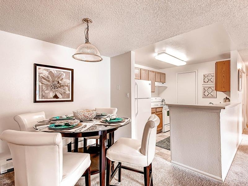 Dining Room | Ascend at Red Rocks Apartments in Lakewood, CO