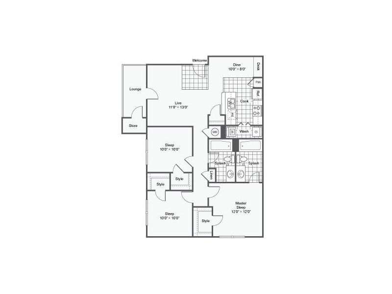 Floor Plans at Elevate at Red Rocks Apartments
