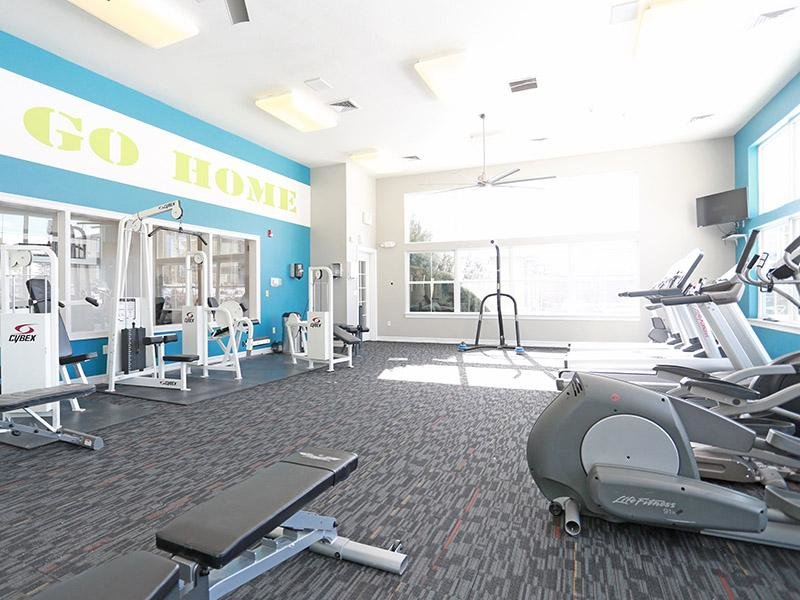 Gym | Elevate at Red Rocks Apts in Lakewood, CO
