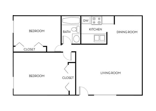 Floorplan for Park at Palmer Apartments