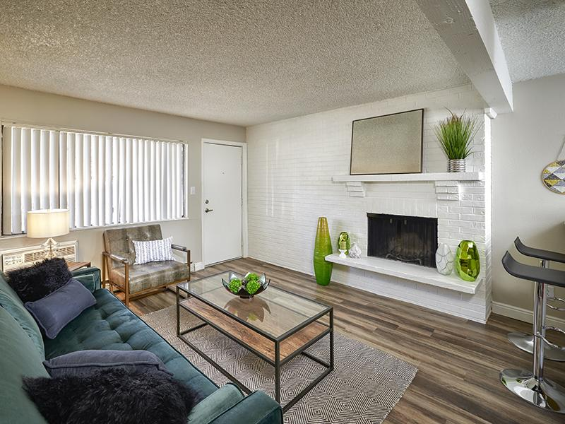 Apartment Living Room | Park at Palmer in Colorado Springs