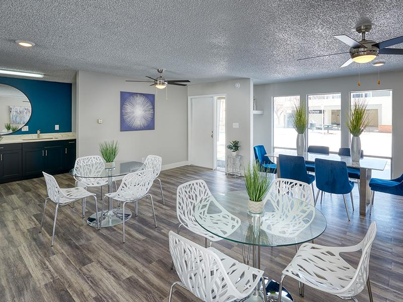 Clubhouse & Dining Area | Park at Palmer Apartments