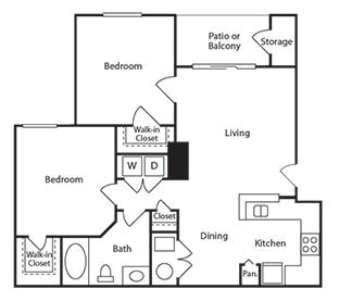Floorplan for Regatta Apartments