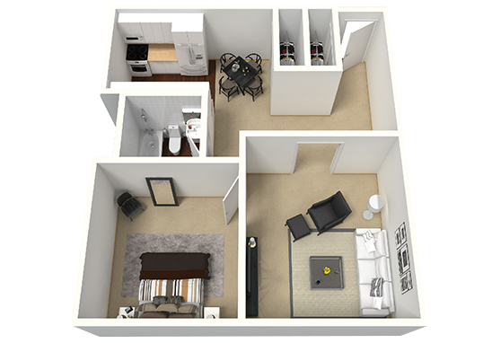 Floorplan for Timber Lodge Apartments
