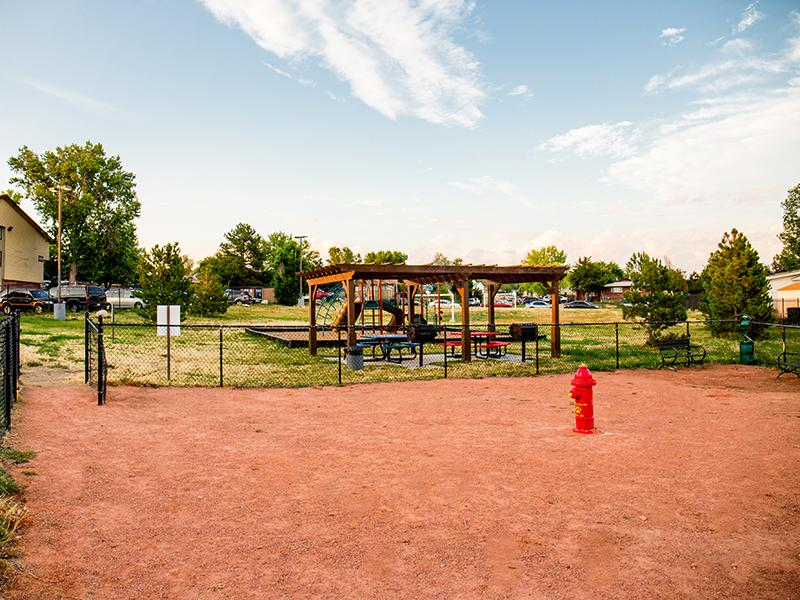 Exterior Dog Park | Timber Lodge in Thornton