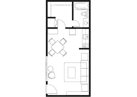 Floorplan for Luxe 1801 Apartments