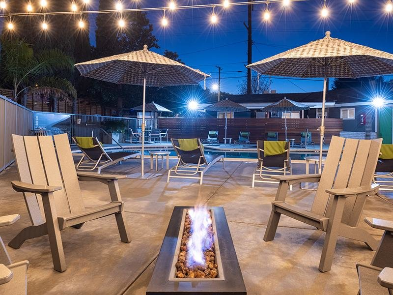 Outdoor Firepit | The Villas at Anaheim Apartments