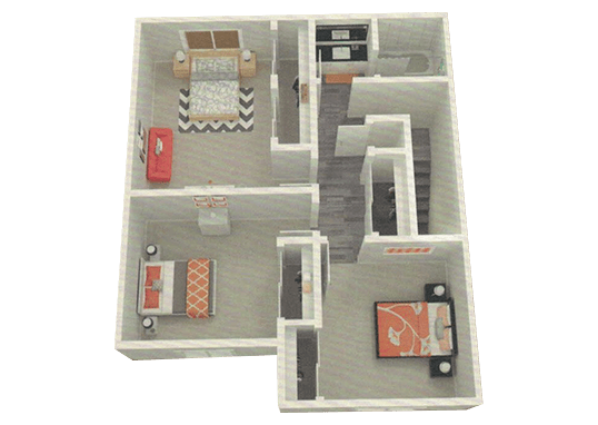 Floorplan for The Eleven Hundred Apartments
