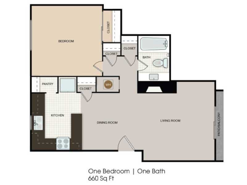Our 1x1 Enhanced is a 1 Bedroom, 1 Bathroom Apartment