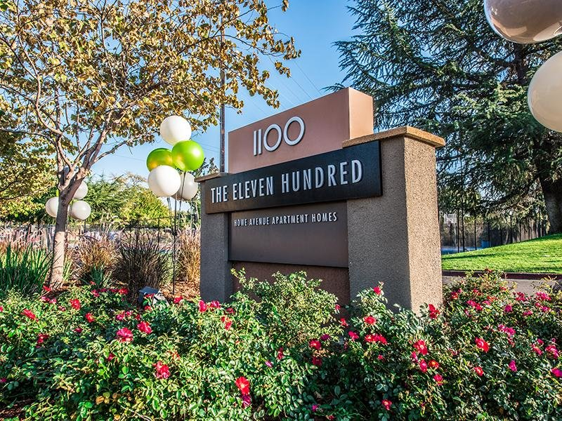 Welcome Sign | The Eleven Hundred Apartments in Sacramento CA