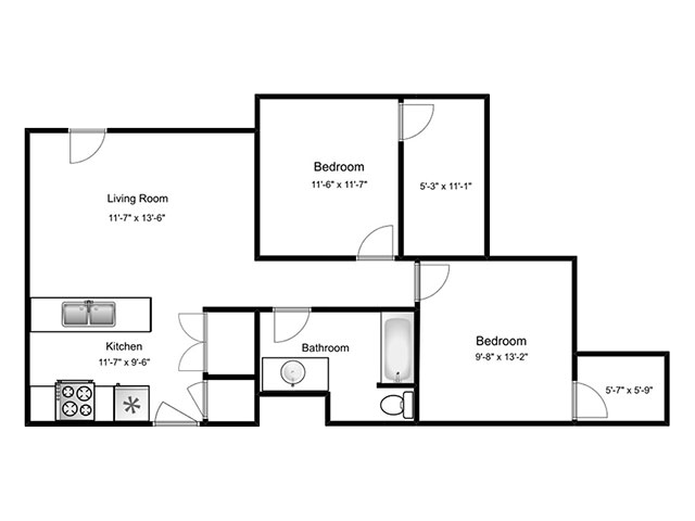 Floorplan for West Station Apartments